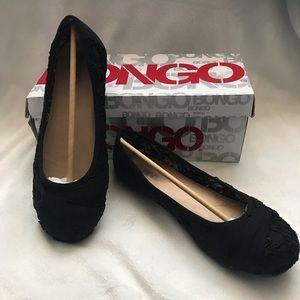 Bongo Laci Black Fabric Flats